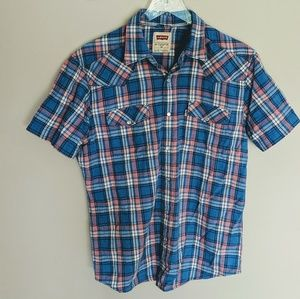 Levi's Pearl Snap Short Sleeve Button Up